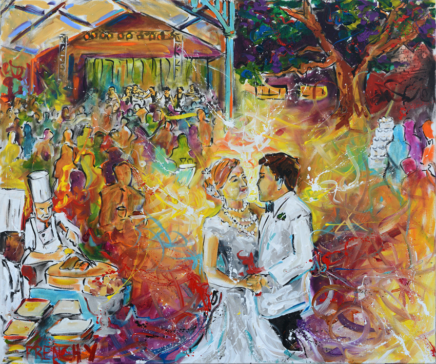 Outdoor Wedding live painting