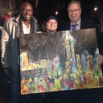 Frenchy painting on the 230 5th Ave Roof Top at Ron Jaworski Cigar Party Super Bowl XLVIII